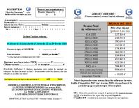 Page 2 et 3 du dossier ados Chartres métropole (Séjour ski 2020)