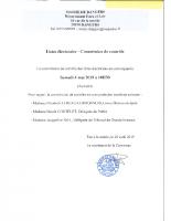 AVIS CONVOCATION COMMISSION CONTROLE