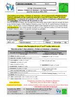 Fiche d'inscription et fiche de renseignements Chartres Metropole – Eté 2019