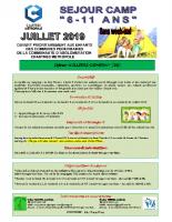 Plaquette camp élémentaire du 8-12, 15-19 et du 22-26 à Illiers-Combray – Chartres métropole