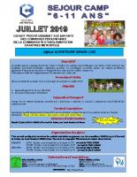 Plaquette camp élémentaire du 9-15 et 15-22 à Fontaine-Simon – Chartres métropole