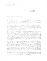Courrier – Premier ministre – Maires de France – COVID 19