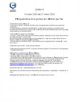 Réorganisation de la gestion des déchets 16 au 31 mars CM