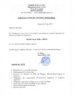 CONVOCATION CM 09 06 2020