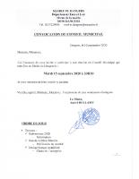 CONVOCATION CM 2020 09 15
