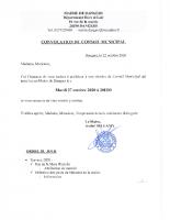 CONVOCATION CM 2020 10 27