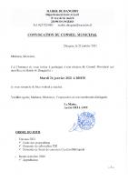 CONVOCATION CM 2021 01 26