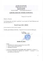 CONVOCATION CM 2021 03 09