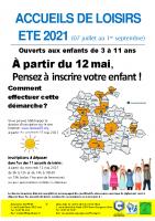 ALSH Eté 2021 – Accueil 3-11 ans – Chartres métropole